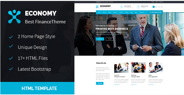 Economy - Finance & Business HTML Template
