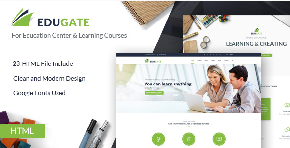 EduGate - Multiconcept Education HTML template