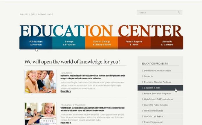 Education PSD Template