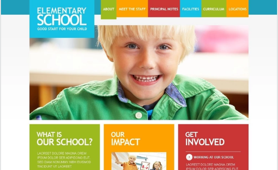 Education PSD Template