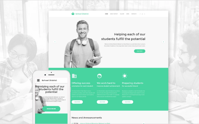 Education Responsive Website Template