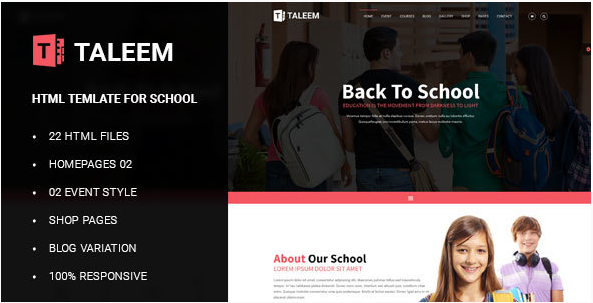 Education - School Education HTML Template