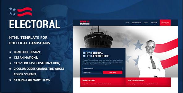 Electoral - Political Non-Profit HTML Template