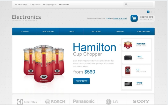 Electronics Store OpenCart Template