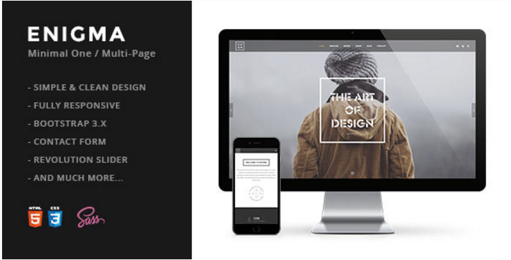 Enigma Creative Responsive Minimal HTML Template