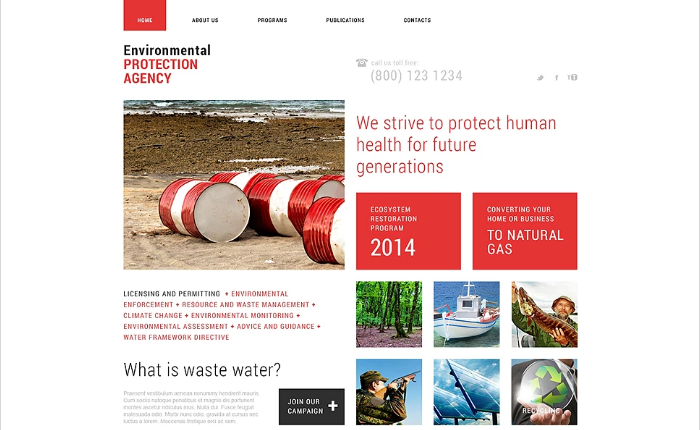 Environmental Responsive Website Template