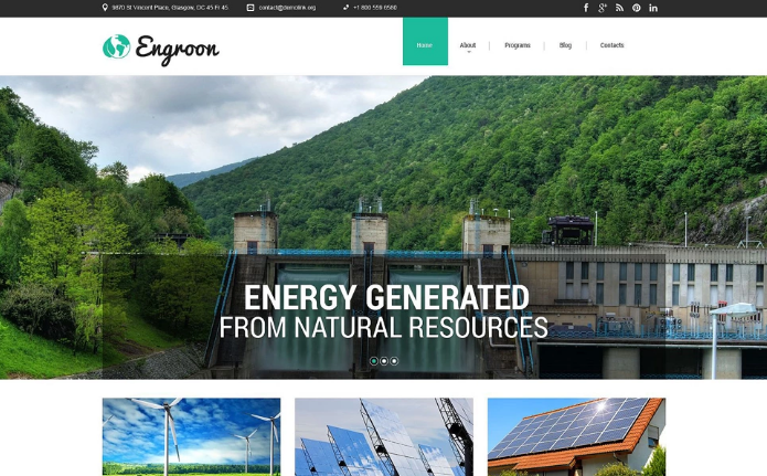 Best Environmental HTML Website Templates