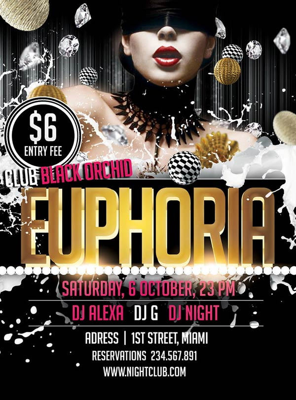 Euporia PSD Party Flyer