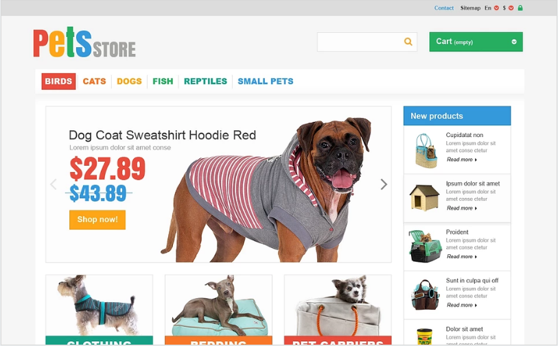 Everything Your Pet Needs PrestaShop Theme