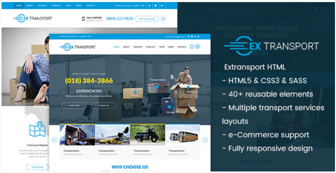 Extransport - Logistic HTML template
