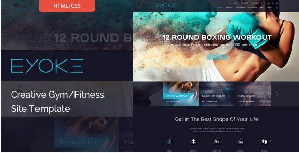 Eyoke - Creative Gym/Fitness HTML Template