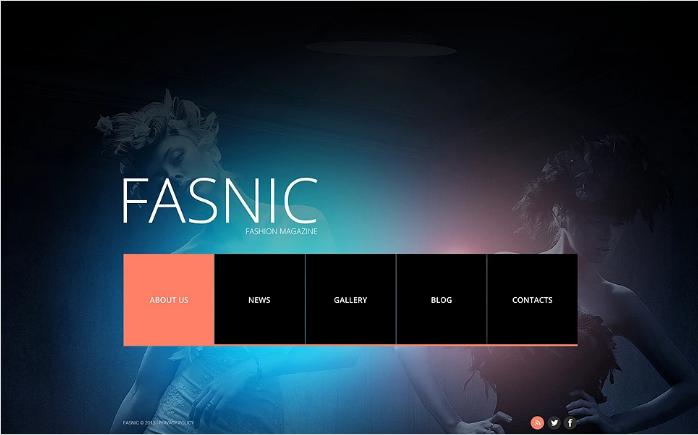 Fashion Blog Website Template