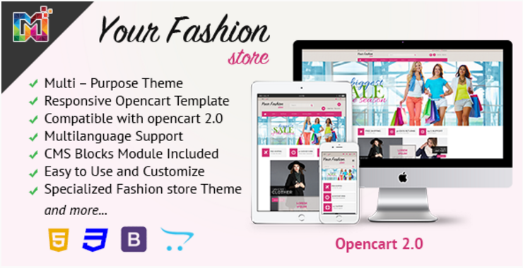 Fashion Store Responsive - OpenCart Template