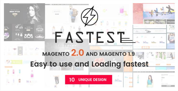 Fastest - Magento 2 themes - Magento 2.1.2 & Magento 1.9 Multipurpose Responsive Theme (10 Design)