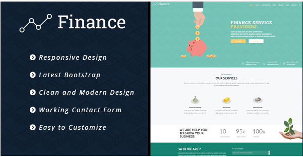 Finance - Consulting Business, Finance HTML5 Template
