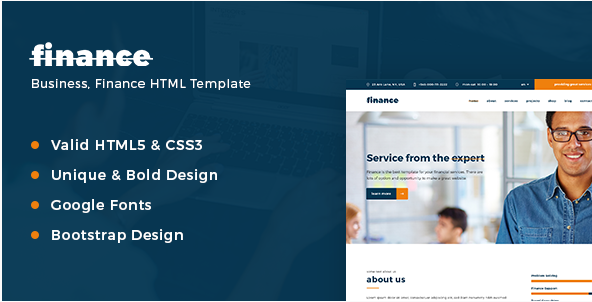 Finance, Consulting & Business HTML Template
