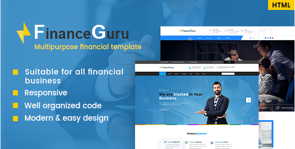 Finance Guru - Consulting Business, Finance HTML5 Template