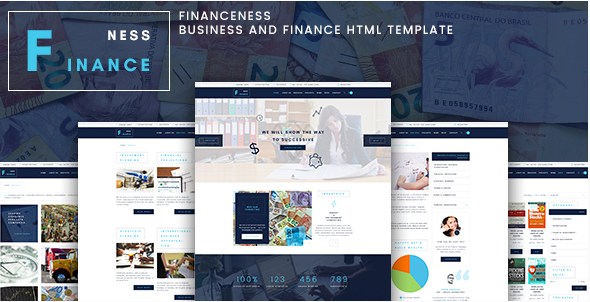 Financeness - Business and Finance HTML Template