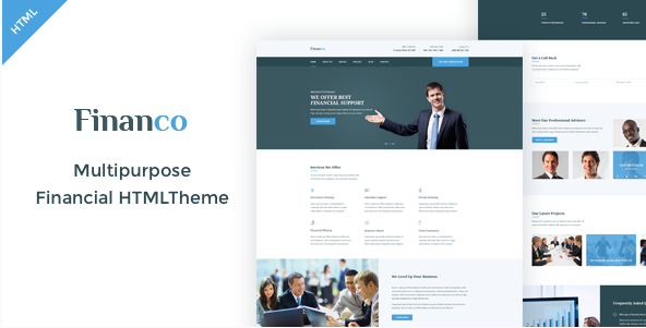 Financo - Finance & Investment HTML Template