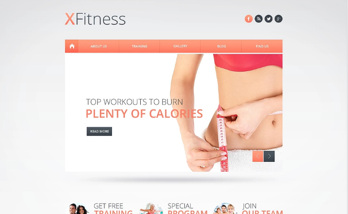 Fitness Club Website Template