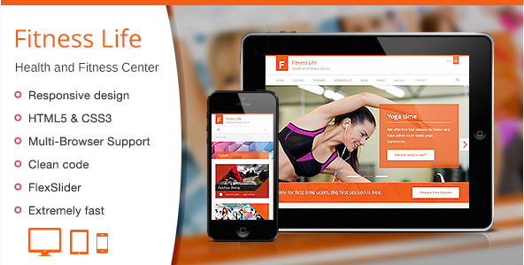 Fitness Life - Gym Fitness HTML Template