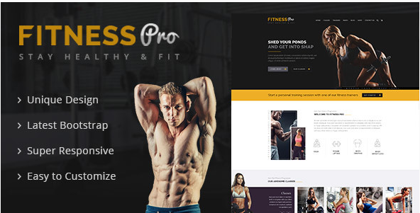 Fitness Pro - Gym Fitness HTML Template