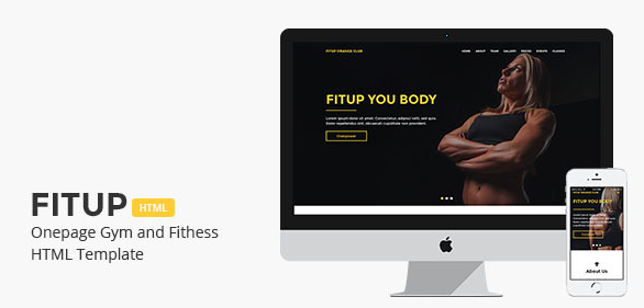 Fitup - Onepage Gym and Fitness HTML Template