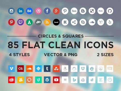 Flat-Minimalistic-Social-Icons