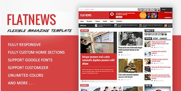 FlatNews - Magazine HTML Template