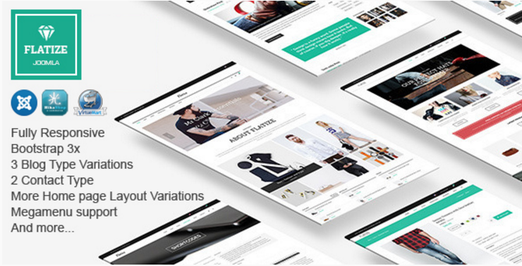Flatize - Fashion eCommerce Joomla Template