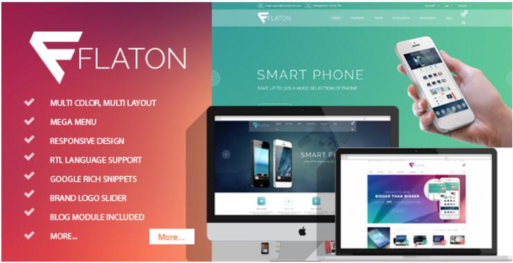 Flaton - Responsive Prestashop Digital Theme