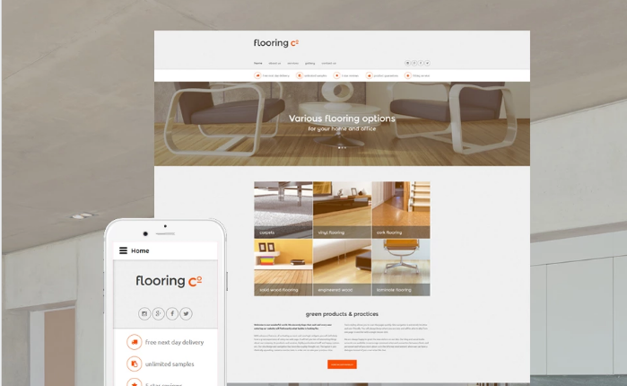 Flooring Co. Website Template