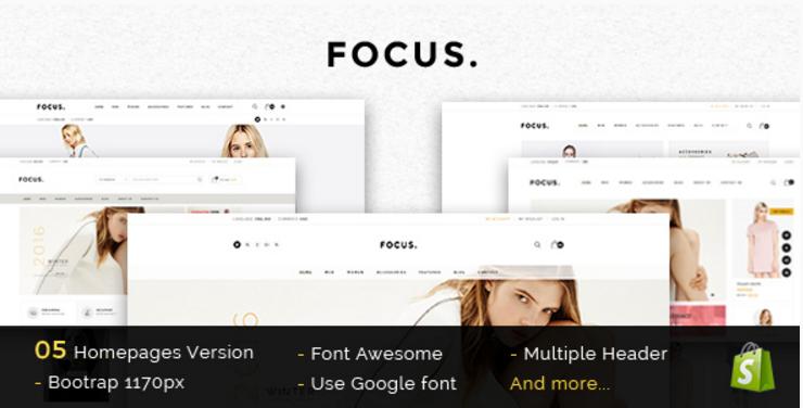 Focus - Advanced Multipurpose Responsive Prestashop Theme