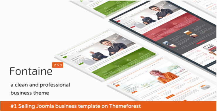 Fontaine - Responsive Joomla Business Template