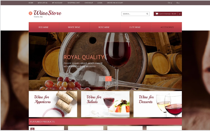 Food & Drink OpenCart Template