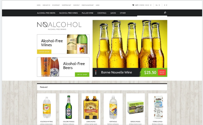Food & Drink Responsive OpenCart Template