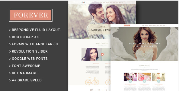 Forever - Wedding Couple & Wedding Agency HTML5 Template