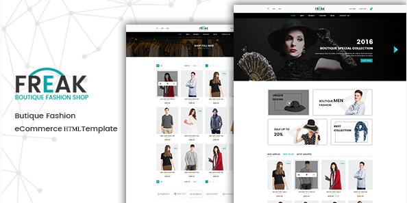 Freak - Boutique eCommerce HTML Template