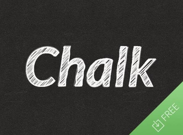 Free Chalk Text Effect