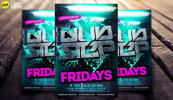 Free Club Step Flyer Template