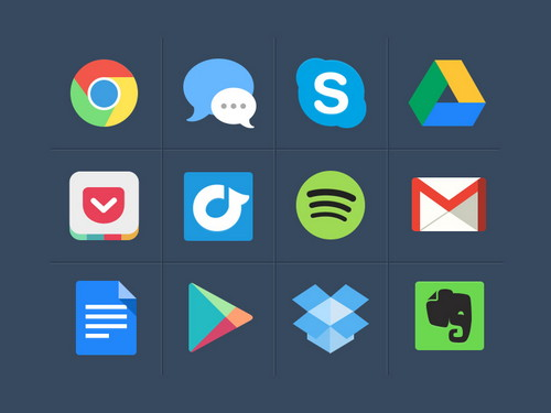 Free-Colorful-Flat-Icons