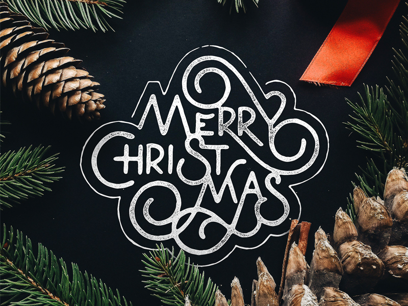 Free-Merry-Christmas-Typography-Design
