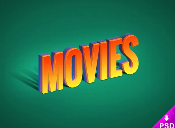 Free Movies Text Effect