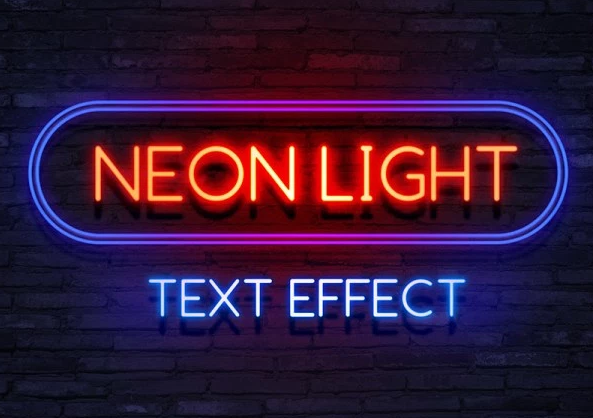 Free Neon Light Text Effect