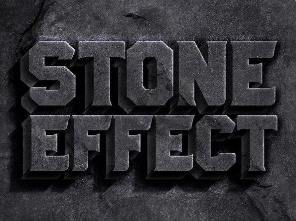 Free Stone Text Effect