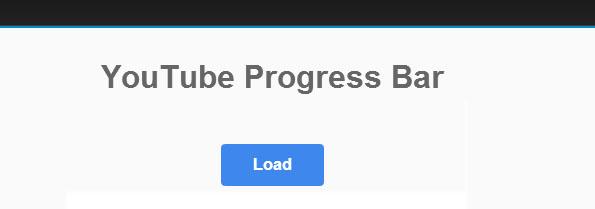 Free YouTube Progress Bar