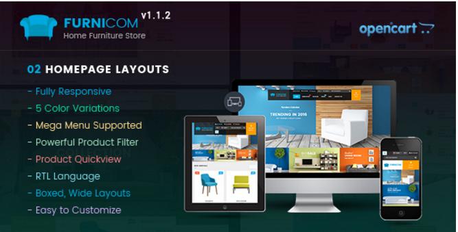 Furnicom - Responsive Multipurpose OpenCart Theme