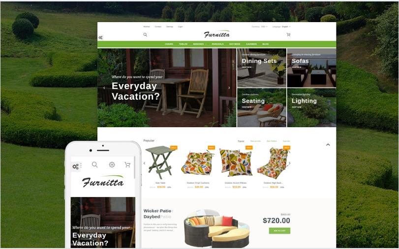 Furnitta - Outdoor Furniture PrestaShop Theme