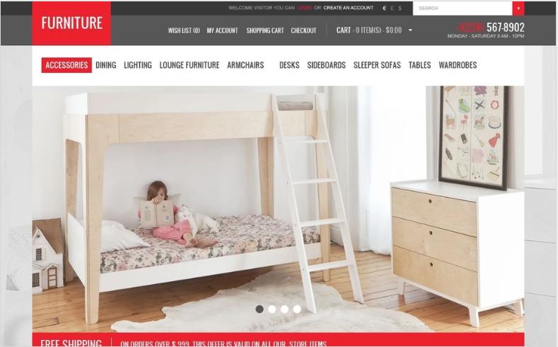 Furniture Creating Comfort OpenCart Template