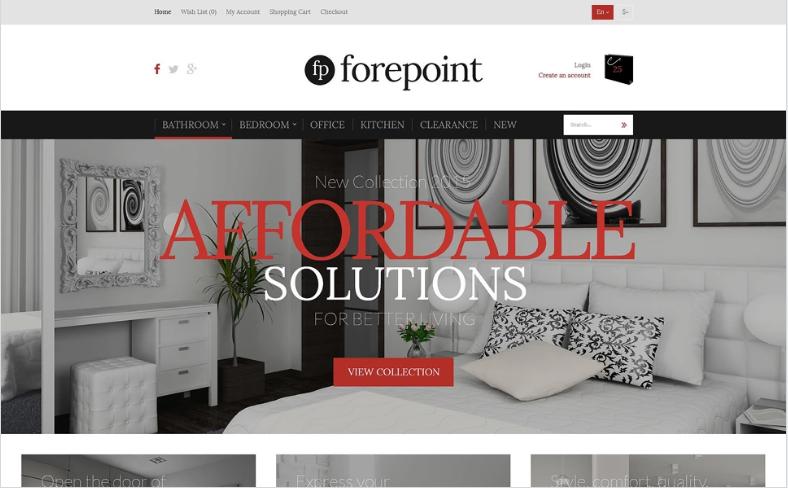 Furniture Shop OpenCart Template